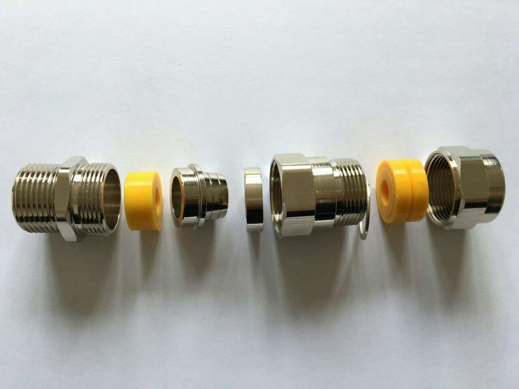 Stainless Steel Explosion Proof Cable Gland , IP54 Metal Cable Connectors